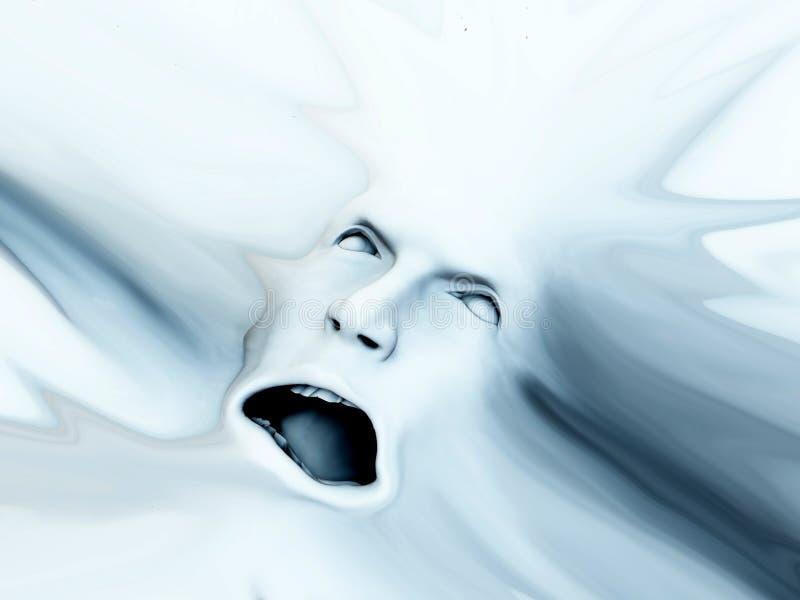 Krzycząca Głowa 8 ilustracja wektor