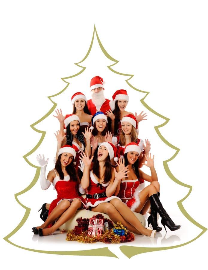 krzyczące Claus kobiety Santa zdjęcie stock