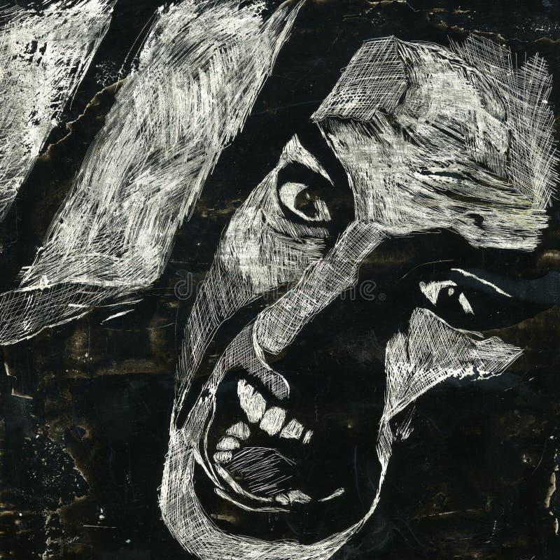 krzyk ilustracja wektor