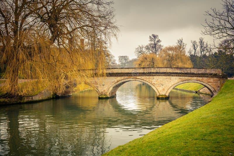 Krzywka rzeka, Cambridge zdjęcie stock