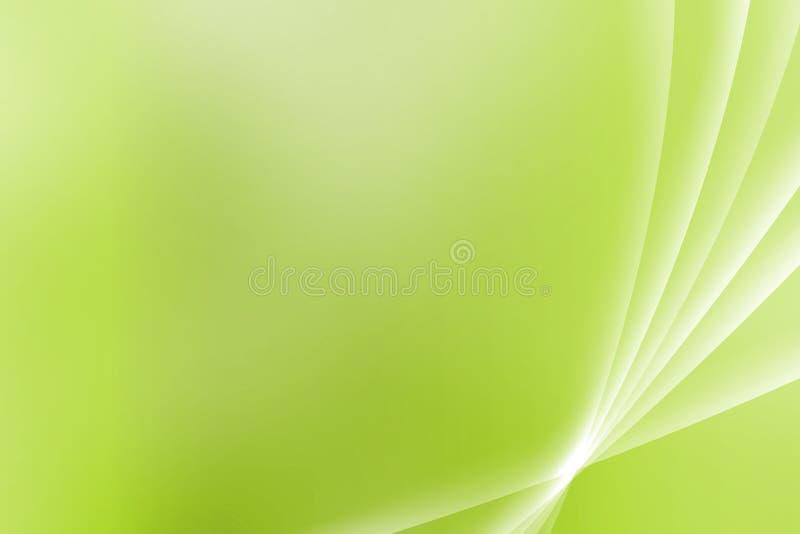 krzywy zielenieją kojącego dukt ilustracja wektor