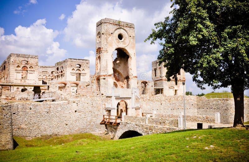 Krzyztopor - impressive castle ruins, Poland. Krzyztopor (eng. Crossaxe) castle ruins in Ujazd village Poland stock photos
