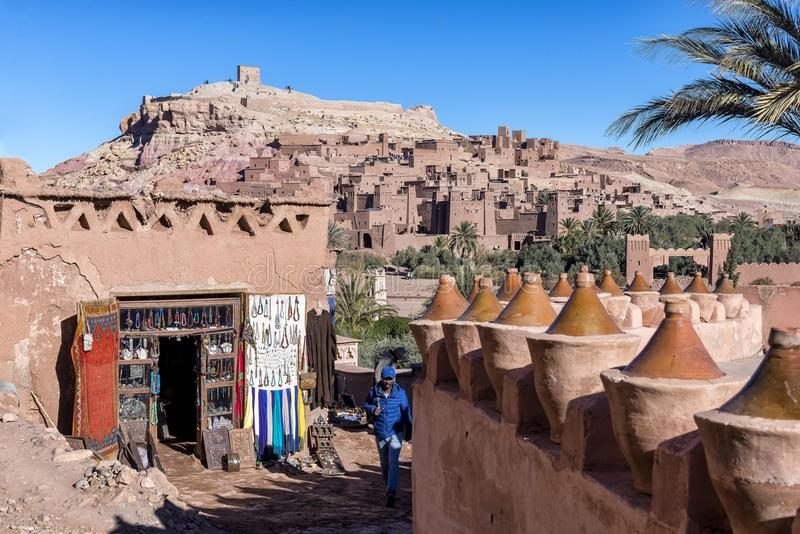 Ksar Ait Benhaddou, Maroko obraz stock