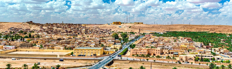 Ksar Bounoura, μια παλαιά πόλη στην κοιλάδα Μ ` Zab στην Αλγερία στοκ εικόνες με δικαίωμα ελεύθερης χρήσης