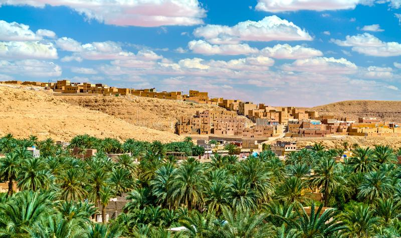 Ksar Bounoura, eine alte Stadt im m-` Zab-Tal in Algerien lizenzfreies stockfoto