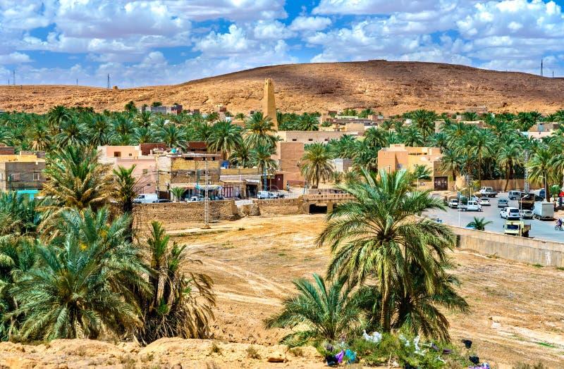 Ksar Bounoura, uma cidade velha no vale de Zab do ` de M em Argélia fotos de stock royalty free