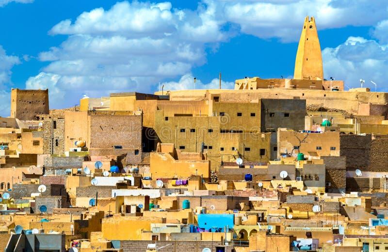 Ksar Bounoura, une vieille ville dans la vallée de Zab de ` de M en Algérie photo stock