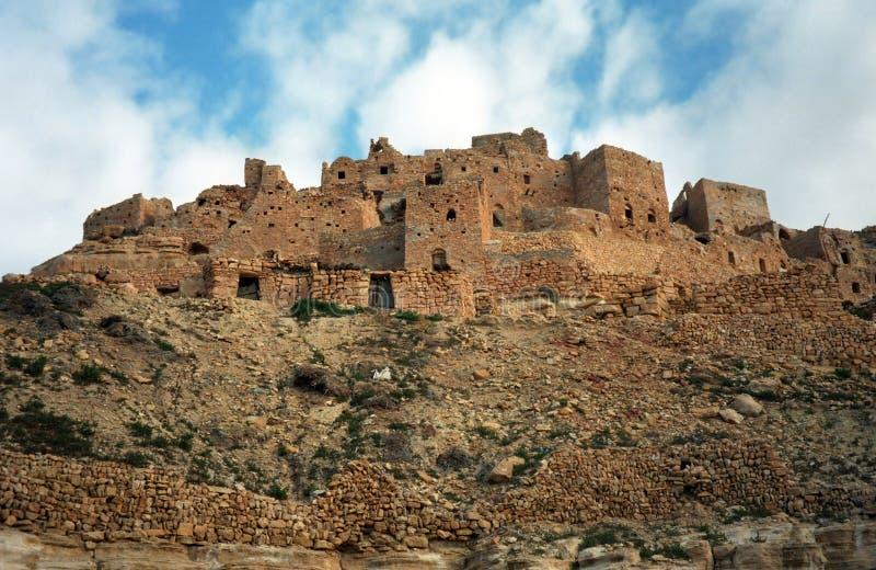 Ksar, Chenini, Tunesië stock foto