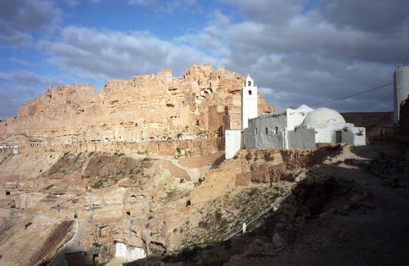 Ksar, Chenini, Tunesië royalty-vrije stock foto
