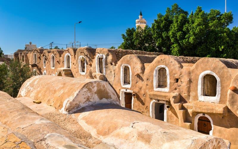 Ksar Hadada dentro em Tunísia do sudeste Star Wars foi filmado aqui imagem de stock