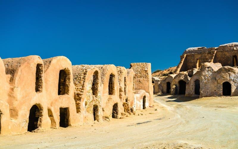 Ksar Hallouf, ένα ενισχυμένο χωριό στο Medenine Governorate, νότια Τυνησία στοκ φωτογραφίες με δικαίωμα ελεύθερης χρήσης