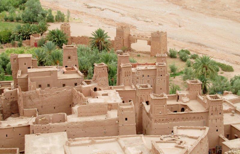 Ksar kasbah of Ait-Ben-Haddou stock photo