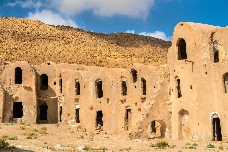 Ksar Ouled Mhemed bij het dorp van Ksour Jlidet, Zuid-Tunesië stock afbeeldingen