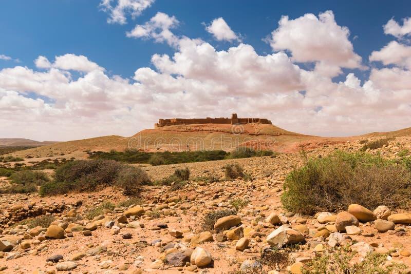Ksar Tafnidilt κοντά σε Wadi Draa, μαύρισμα Tan, Μαρόκο στοκ φωτογραφία