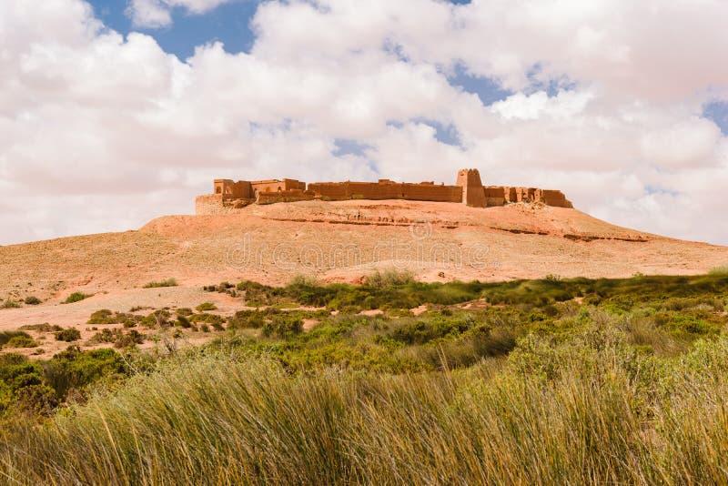 Ksar Tafnidilt vicino a Wadi Draa, Tan Tan, Marocco fotografie stock libere da diritti