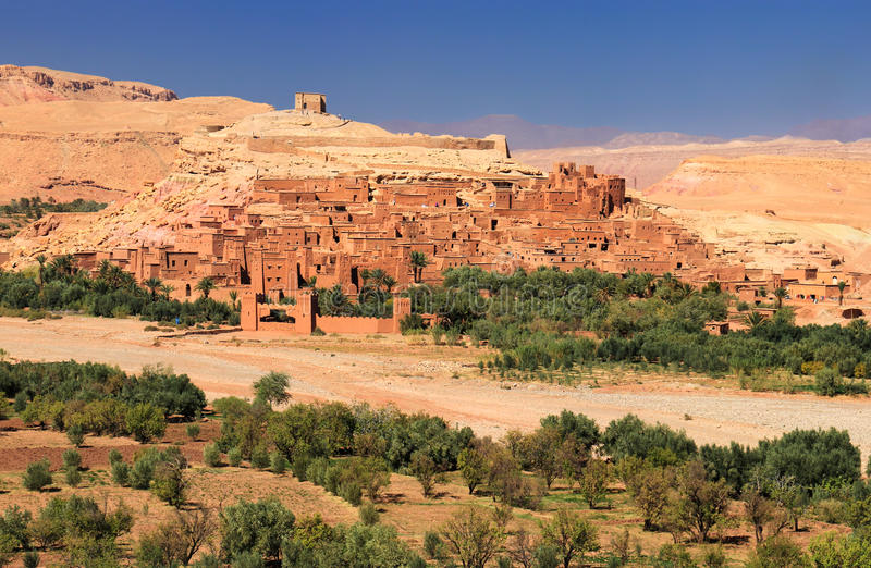 Ksar velho de AIT-Ben-Haddou em Marrocos fotografia de stock royalty free