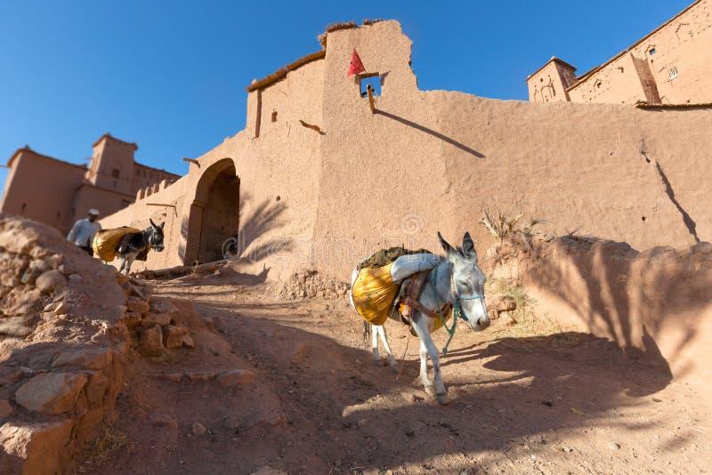 Ksar von Ait Ben Hadu, Marokko lizenzfreies stockbild