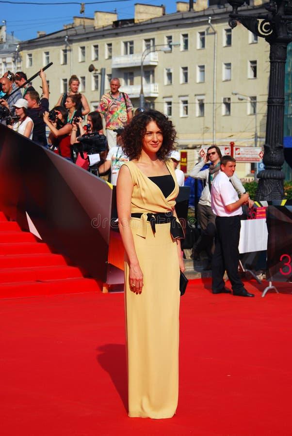 Ksenia Rappoport no festival de cinema de Moscou imagens de stock royalty free