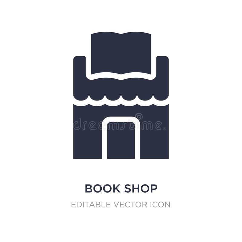 książkowego sklepu ikona na białym tle Prosta element ilustracja od edukacji pojęcia ilustracji