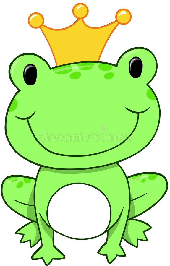 książę żaby wektora royalty ilustracja