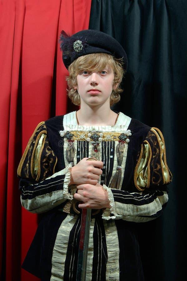Książę xviii wiek młodych zdjęcie stock