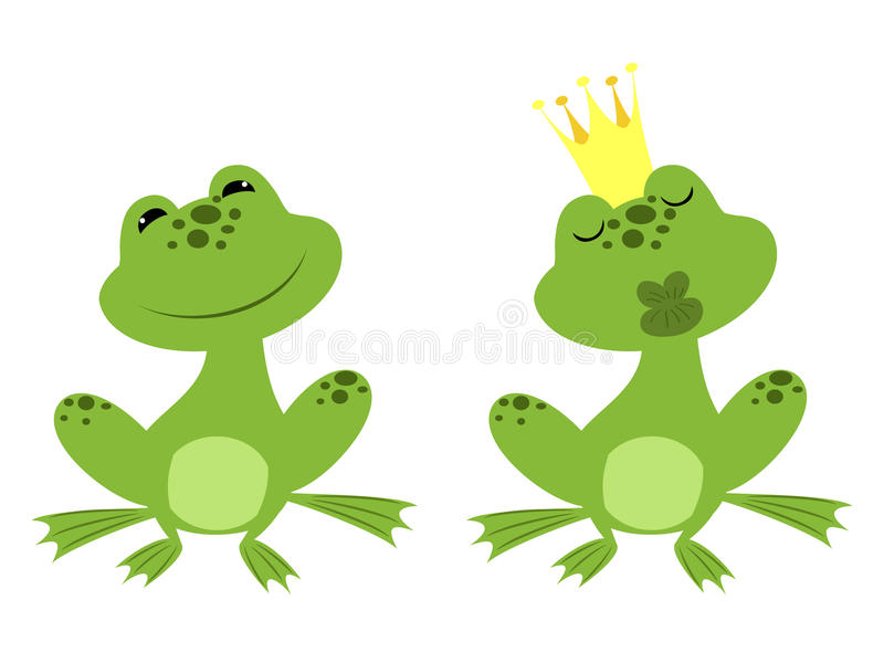 Książe żaba royalty ilustracja