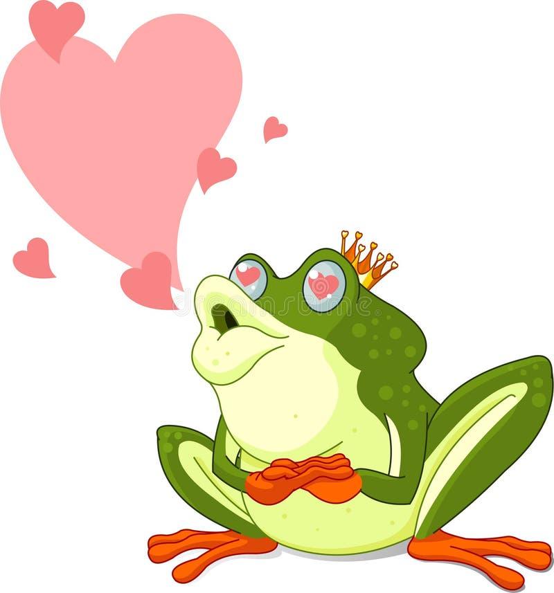książe jest czekanie żaba całującym royalty ilustracja