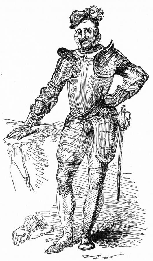 Książe Leicester, dworski pupil ilustracja wektor