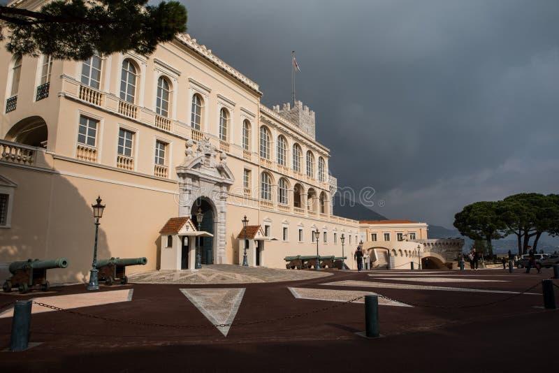 Książe ` s Pałac Palais Du Książe w Monaco zdjęcie royalty free