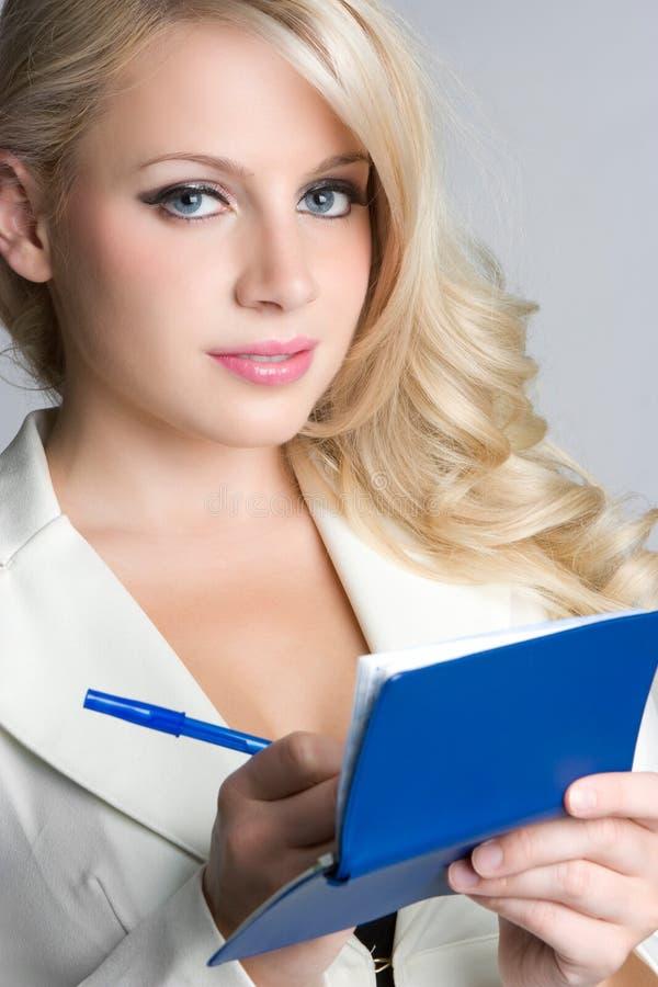książeczki czekowej kobieta zdjęcia royalty free