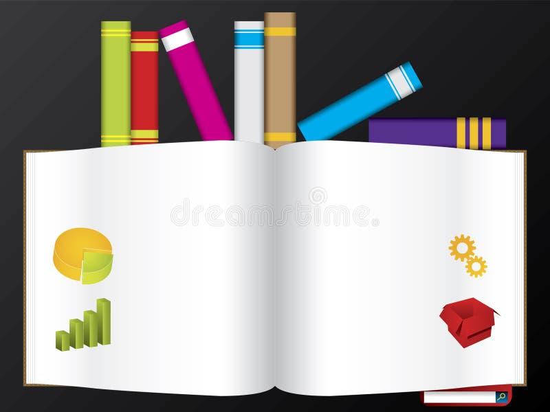 książek kolorów szablonu żywa sieć royalty ilustracja