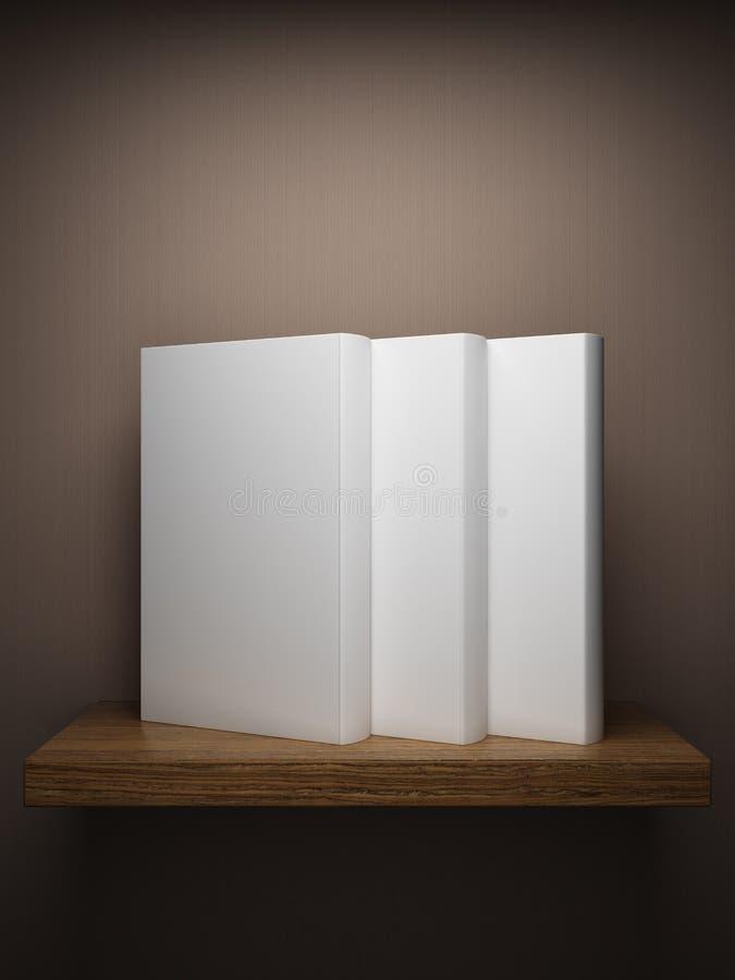 książek półka na książki ściana ilustracja wektor