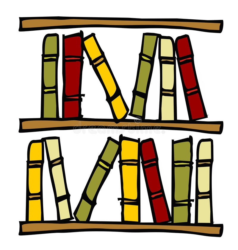 książek półki ilustracji