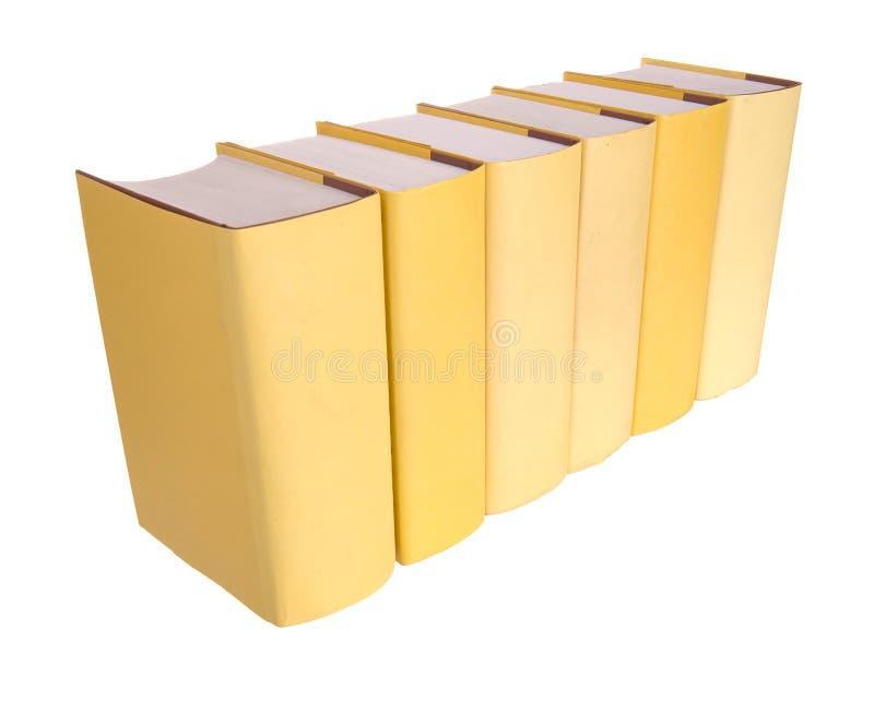 książek rzędu kolor żółty zdjęcie stock