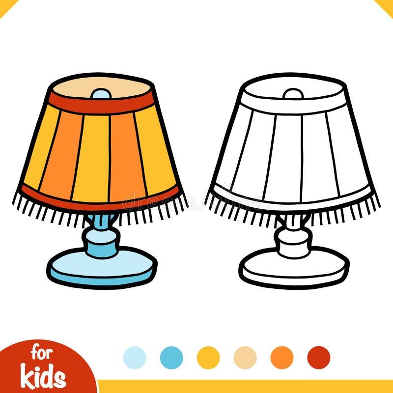 Książka barwiąca, lampa do czytania z lampą ilustracji