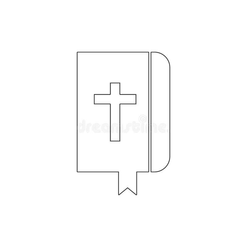 Ksi??ka, biblia konturu ikona Elementy Wielkanocna ilustracyjna ikona Znaki i symbole mog? u?ywa? dla sieci, logo, mobilny app, U royalty ilustracja