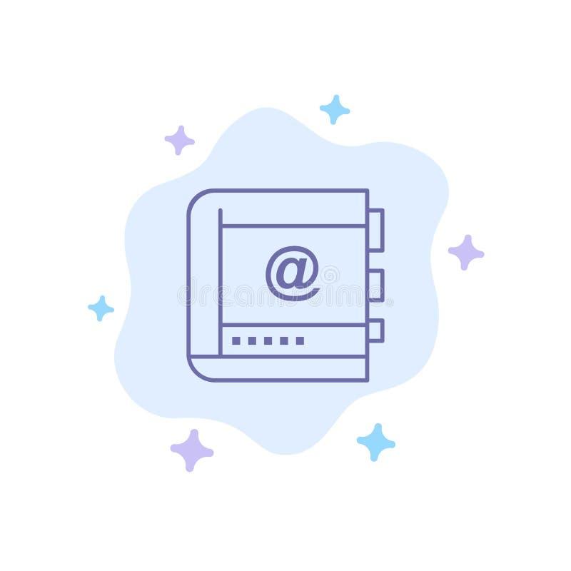 Książka, biznes, kontakt, kontakty, internet, telefon, Telefoniczna Błękitna ikona na abstrakt chmury tle ilustracja wektor