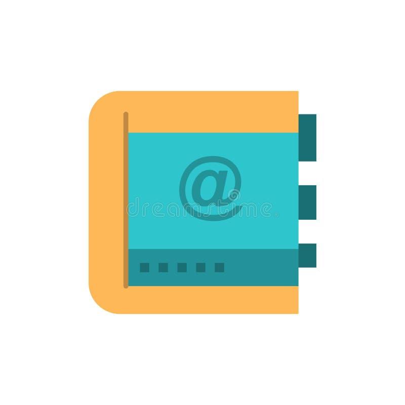 Książka, biznes, kontakt, kontakty, internet, telefon, Telefoniczna Płaska kolor ikona Wektorowy ikona sztandaru szablon royalty ilustracja