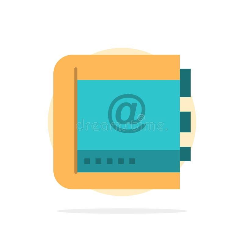 Książka, biznes, kontakt, kontakty, internet, telefon, Telefonicznego Abstrakcjonistycznego okręgu tła koloru Płaska ikona ilustracji