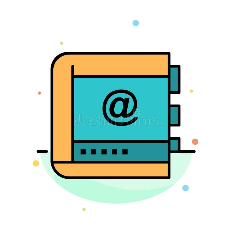 Książka, biznes, kontakt, kontakty, internet, telefon, Telefoniczny Abstrakcjonistyczny Płaski kolor ikony szablon ilustracji
