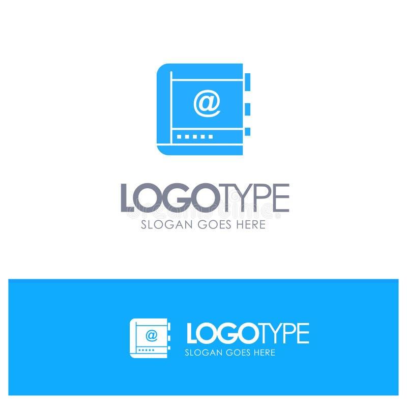 Książka, biznes, kontakt, kontakty, internet, telefon, Telefoniczny Błękitny Stały logo z miejscem dla tagline royalty ilustracja