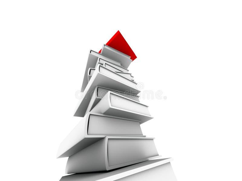 książka czerwonym wieży ilustracja wektor