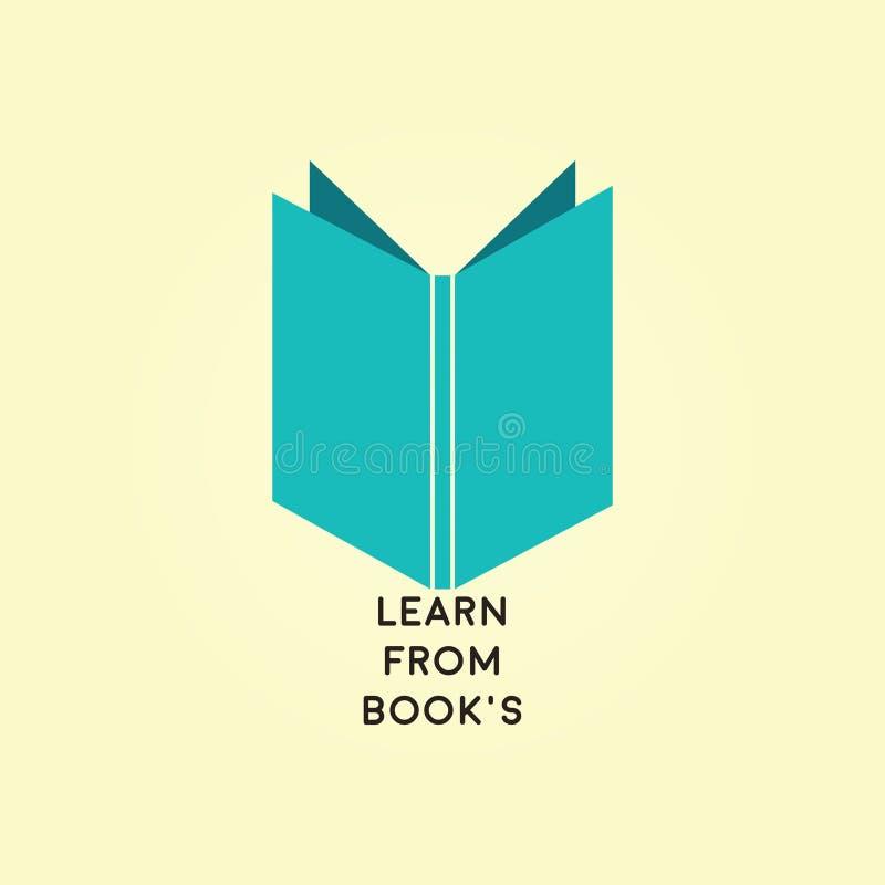 Książka dla akademia logo ilustracji