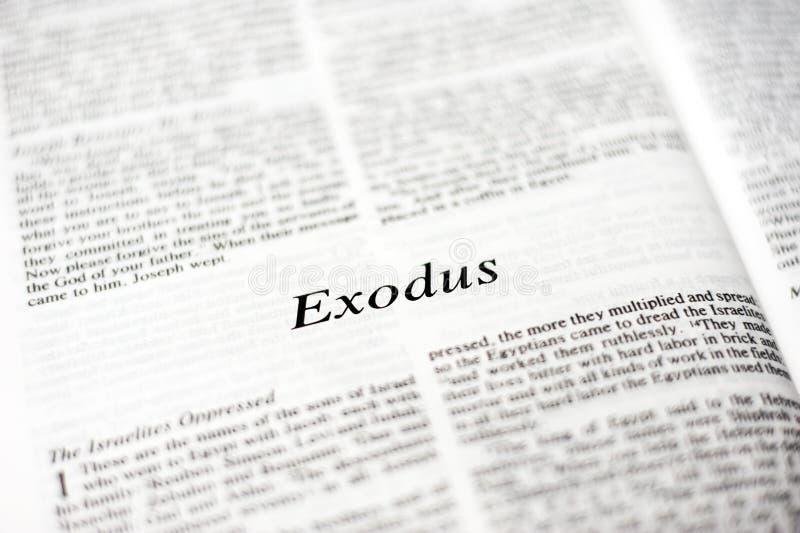 Książka exodus fotografia stock