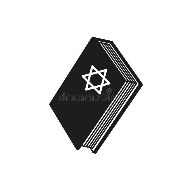 Książka Hanukkah ikony gwiazdy wakacje ilustracja wektor