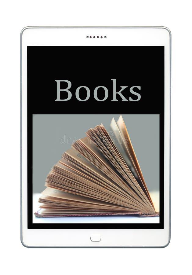 Książka i teblet ilustracji