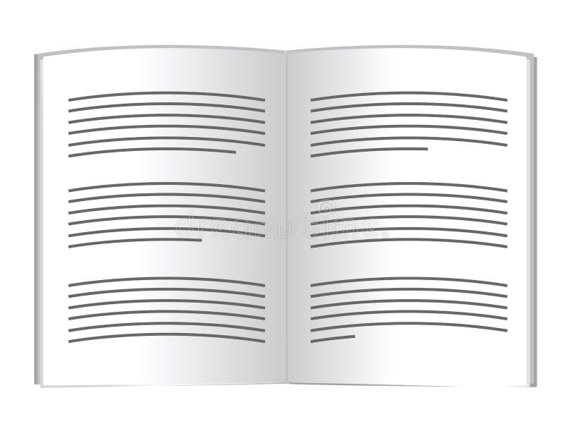 Książka i tekst. ilustracyjny projekt ilustracja wektor