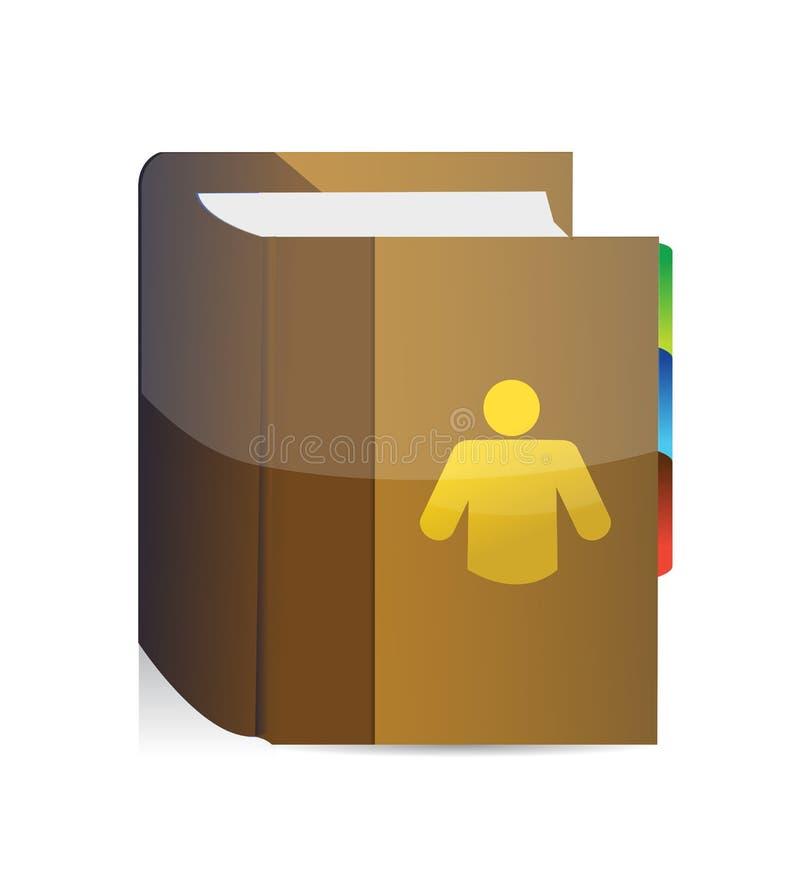 Książka kontakty ilustracja wektor