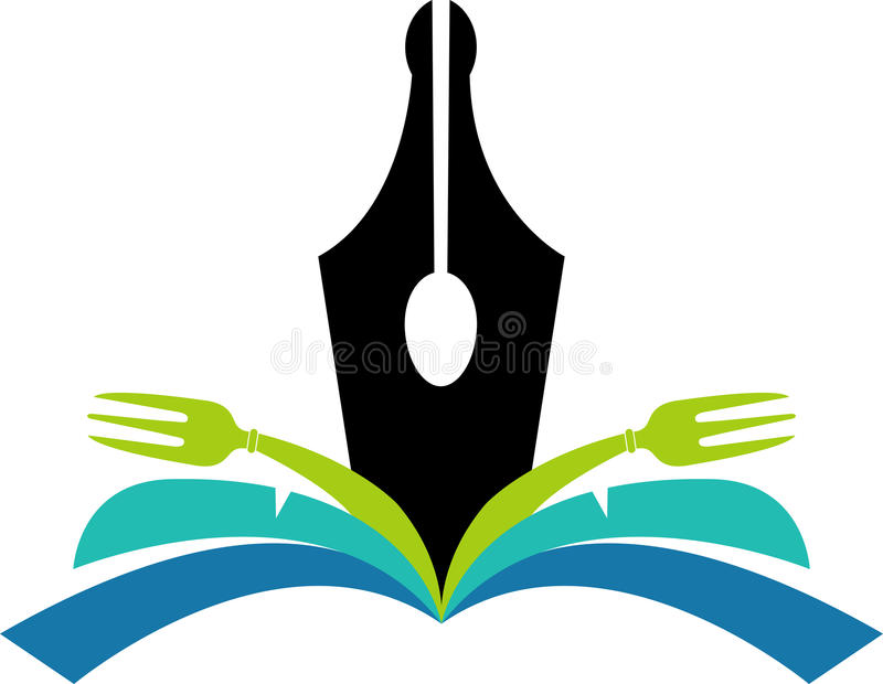 książka kucharska logo ilustracja wektor