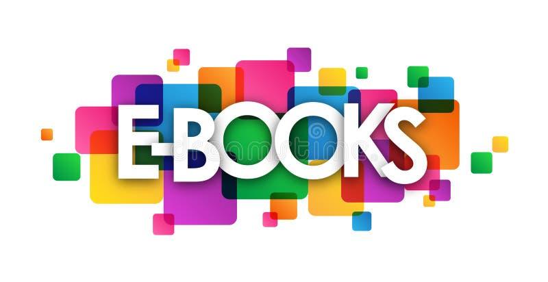 książka kwadratów kolorowy pokrywa się sztandar royalty ilustracja